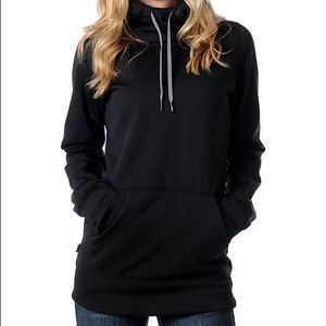 NWT Volcom Paris Tech Fleece Black Pullover Hoodie
